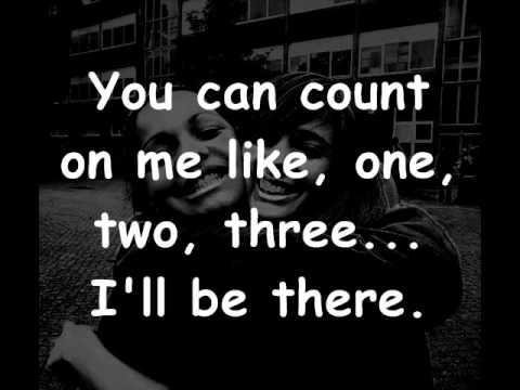 Bruno Mars – Count on me lyrics